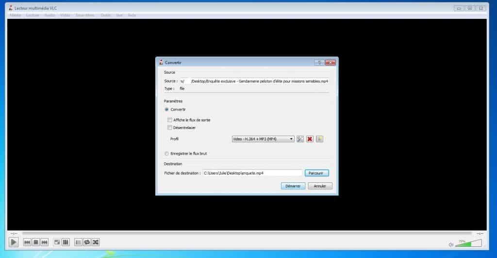 Couper une vidéo avec vlc media player